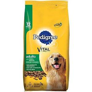 Ração para Cães Pedigree Adulto Carne e Vegetais 3kg