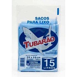 Saco de Lixo Tubarão 15 litros 20un
