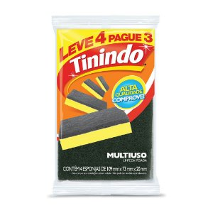 Esponja Multiuso Tinindo Leve 4 e Pague 3 und