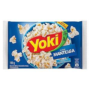 Milho de Pipoca Yoki Sabor Manteiga 160g