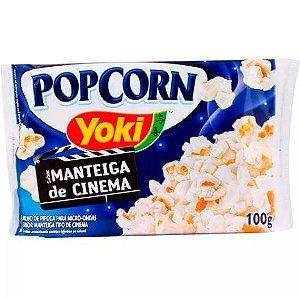 Milho de Pipoca Yoki Sabor Manteiga de Cinema 100g