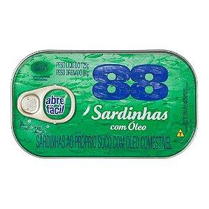 Sardinha 88 com Óleo Abre Fácil 84g