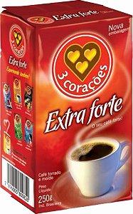 Café 3 Corações Extra Forte Vácuo 250g