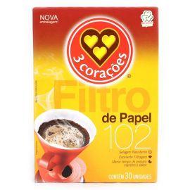 Filtro Papel 102 para Café Três Corações 30 und