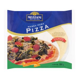Massa Pizza Mezzani Semi Pronta 300g