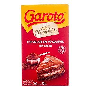 Chocolate em pó Garoto Solúvel 50% Cacau 200g