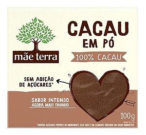 Chocolate em pó Mãe Terra 100% cacau 100g