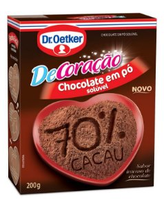 Chocolate em pó Dr Oetker 70% Cacau 200g