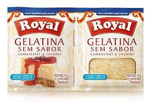 Gelatina Royal Sem Sabor e Incolor 24 g (2 unidades)