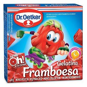 Gelatina Dr. Oetker Framboesa 20g