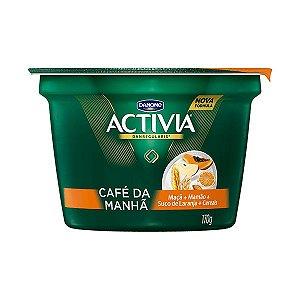 Leite Fermentado Activia Café da Manhã Mamão, Maçã e Suco de laranja 170g