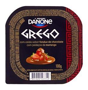 Iogurte Danone Grego Fondue Morango e Chocolate 100g