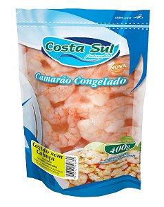 Camarão sem Cabeça Cozido e Congelado Costa Sul 400g