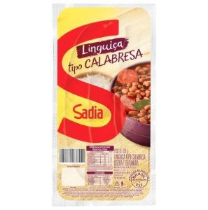 Linguiça Calabresa Cozida e Defumada Sadia 500g