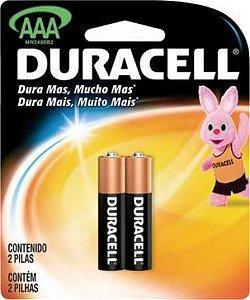 Pilha Duracell Alcalina pal. AAA 2 un