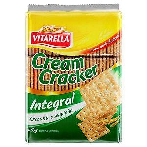 Biscoito Cream Cracker Integral Vitarella 420g