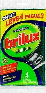Esponja Brilhux Multiuso leve 4 pague 3