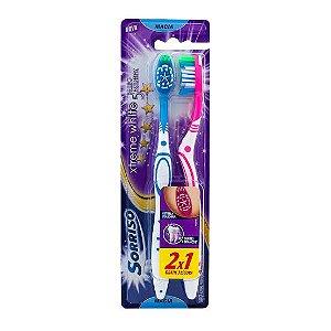 Escova Dental Sorriso Xtreme White 5 Estrelas Macia Cores Sortidas 2 un
