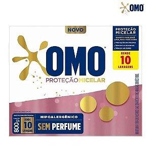 Detergente em pó Omo Proteção Micelar caixa 800g