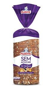 Pão Integral PlusVita Sem Açúcar 12 grãos 350g