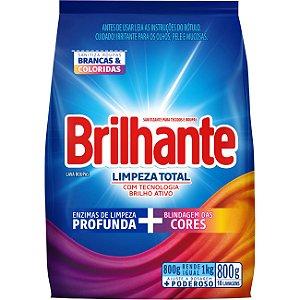 Detergente em Pó Sanitizante Brilhante Limpeza Total 800g