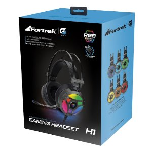 Fone de ouvido Fortrek H1 PRO RGB Gamer