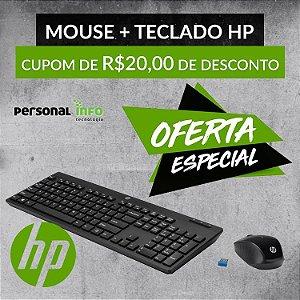 Kit Teclado e Mouse HP com Fio Work/Gamer