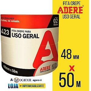 Fita Crepe Adere Tapefix Uso Geral 48mm X 50m 1UN - www.lojadoimpermeabilizante.com.br