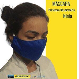 Máscara Protetora Respiratória Higiênica Lavável Ninja Azul - www.lojadoimpermeabilizante.com.br