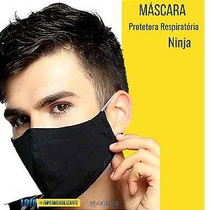 Máscara Protetora Respiratória Higiênica Lavável Ninja Preto - www.lojadoimpermeabilizante.com.br