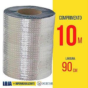 Fita Adesiva Aluminizada Manta Asfáltica 90cm x 10m Vedatudo - www.lojadoimpermeabilizante.com.br