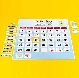 Calendário com Peças Móveis e Marcadores de Clima
