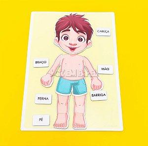 Prancha Partes do Corpo (Menino)