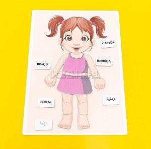 Prancha Partes do Corpo (Menina)