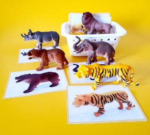 Kit de Animais Selvagem com 6