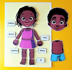 Prancha Partes do Corpo Humano 2 - Negro