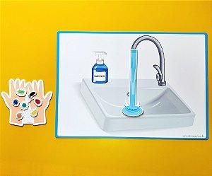 Higienizar as mãos