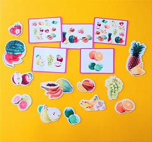 kit peças magnéticas Frutas
