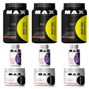 KIT 3X WHEY + BCAA + CREATINA