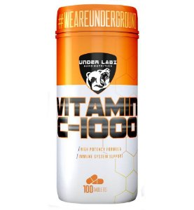 VITAMINA C 1000MG 100TABLETES - UNDER LABZ