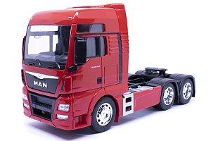 Caminhão Man Trucado TGX 6X4 Vermelho - Welly 1:32
