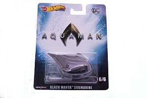 Hot Wheels Premium Black Manta Submarine - Aquaman DC Comics - DMC55 Mattel 6/6