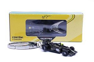 Chaveiro Ayrton Senna 1985 Lotus 97T Preta