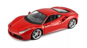 Ferrari 458 Italia Vermelha - Kit em metal p/ montar - Maisto 1:24