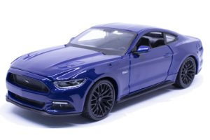 Ford Mustang GT 2015 Azul - Welly 1:24