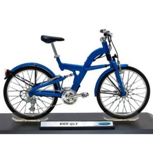 Bicicleta BMW Q5.T Azul - Welly 1:10