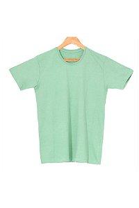 T-Shirt Algodão Orgânico Verde Mescla