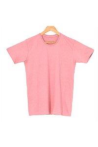 T-Shirt Algodão Orgânico Rosa Mescla