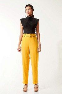 Calça Cinto Amarela