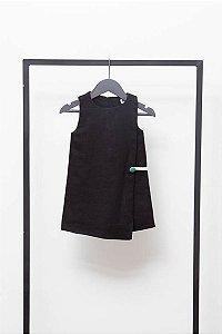 Vestido Envelope Preto (Infantil)